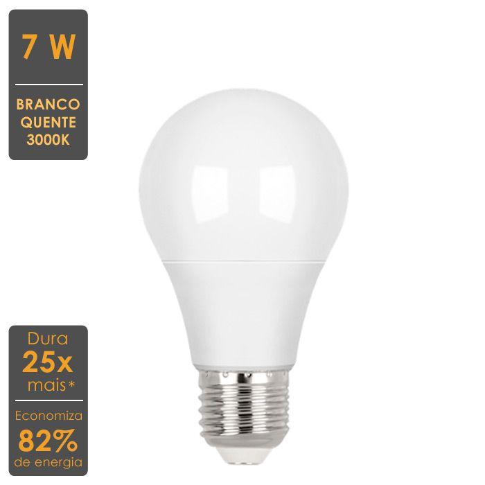 Lâmpada LED Bulbo A60 7W 3000K Stella