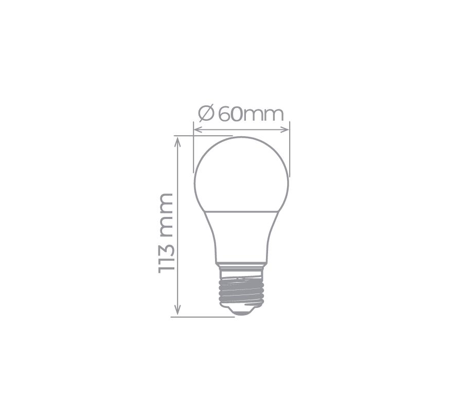 Lâmpada LED Bulbo A60 9W 3000K Bivolt Stella - STH7265/30