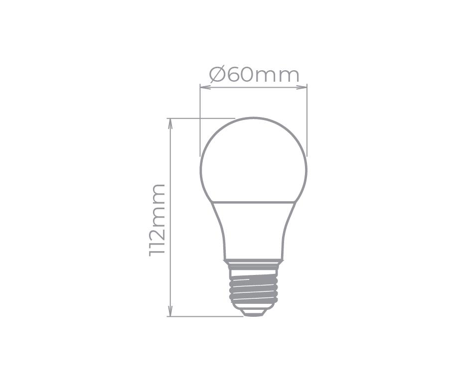 Lâmpada LED Bulbo A60 9W 6500K Bivolt Branco Frio- STH8265/65