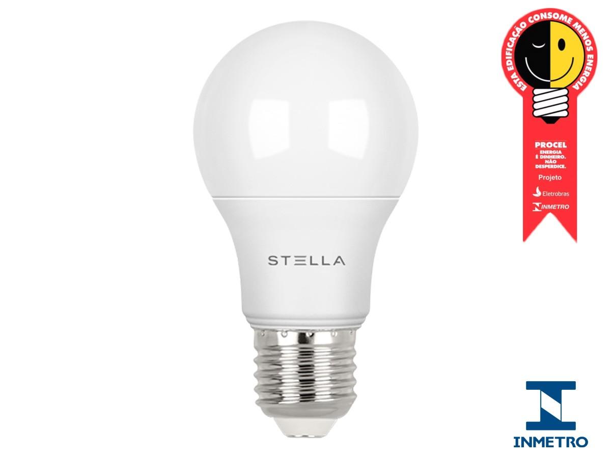 Lampada LED Bulbo Dimerizável 9,8W E27 Bivolt -Stella -STH7250/27