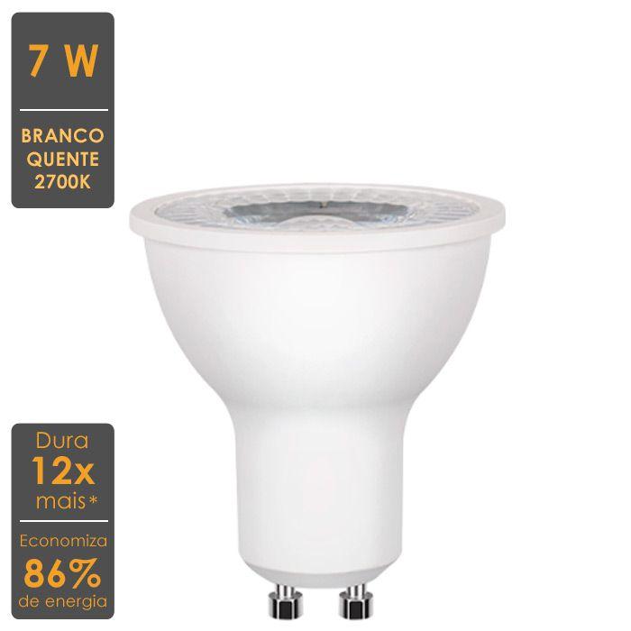 Lâmpada LED Dicroica GU10 7W 2700K Bivolt - Stella - STH8526/27