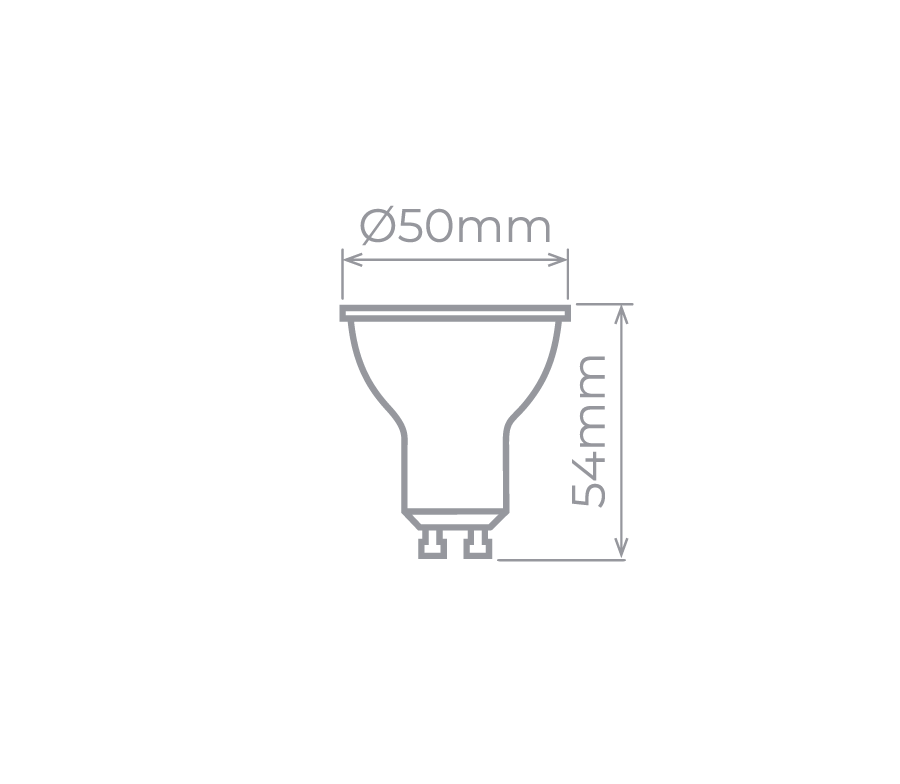 Lâmpada LED Dicroica GU10 7W 2700K - Economiza 86% de Energia