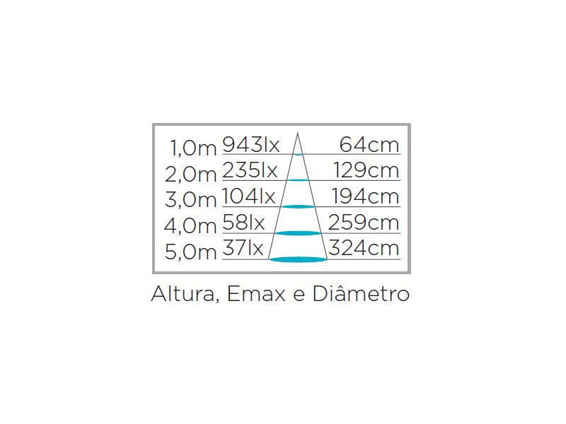 Lâmpada LED Dicroica GU10 7W 2700K Bivolt - Stella - STH8536/27