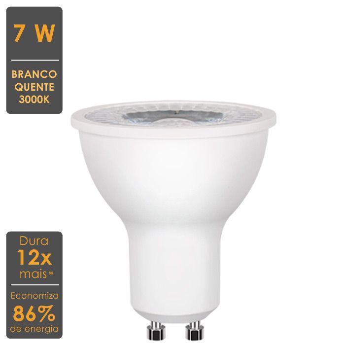 Lâmpada LED Dicroica GU10 7W 3000K Bivolt Stella- STH8526/30