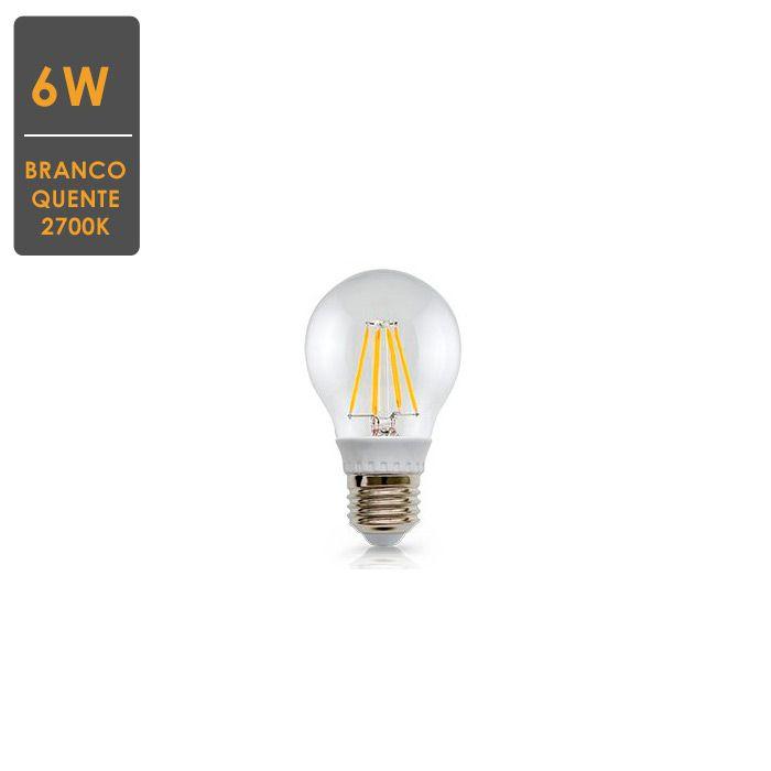 Lâmpada LED Filamento Claro A60 E27 6W 2700K Bivolt