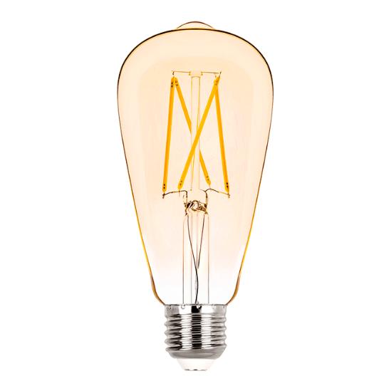 Lâmpada LED Filamento Vintage ST64 2W 2400K - Muito Econônica