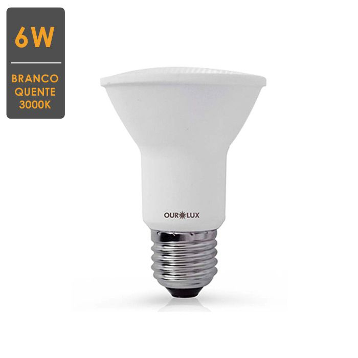 Lâmpada LED PAR20 6W E27 3000K  Bivolt