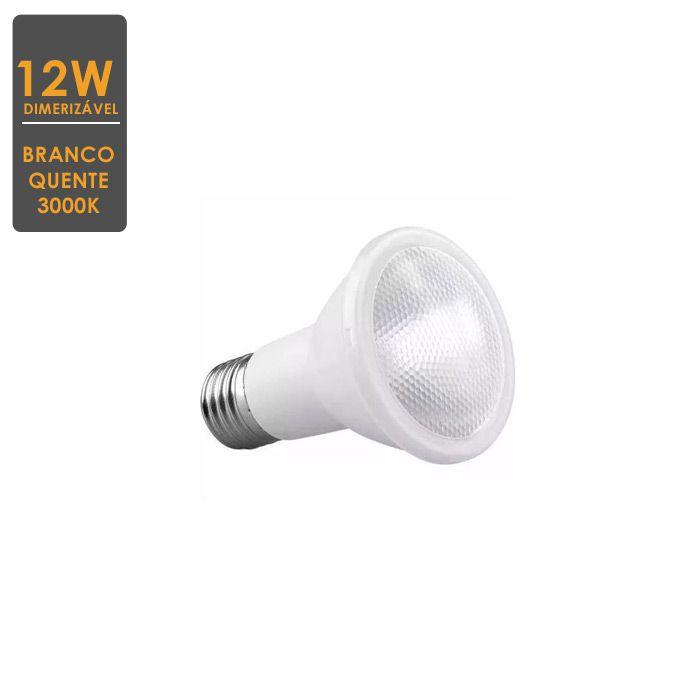 Lâmpada LED PAR30 12W  Dimerizável E27 3000K  Bivolt