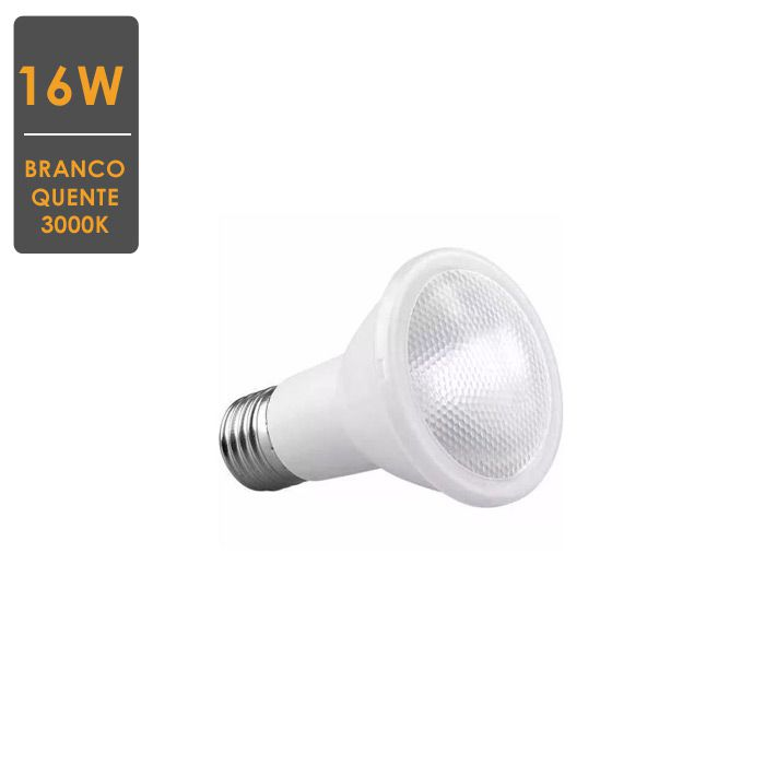 Lâmpada LED PAR38 16W E27 3000K  Bivolt  Branco Quente