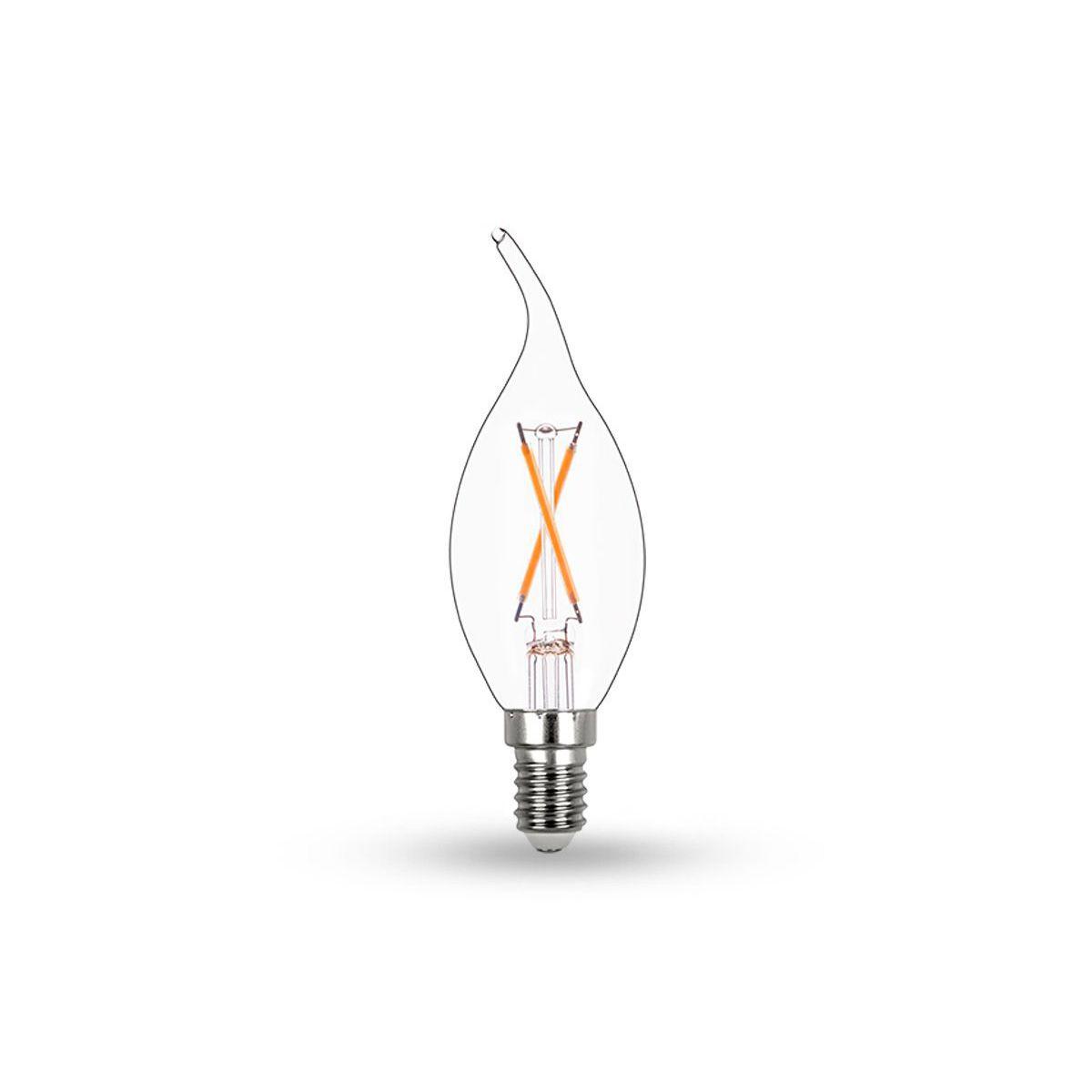 Lâmpada LED Vela Chama Filamento Translúcido E14 2W 2700K 220V - STH7312/27 Stella