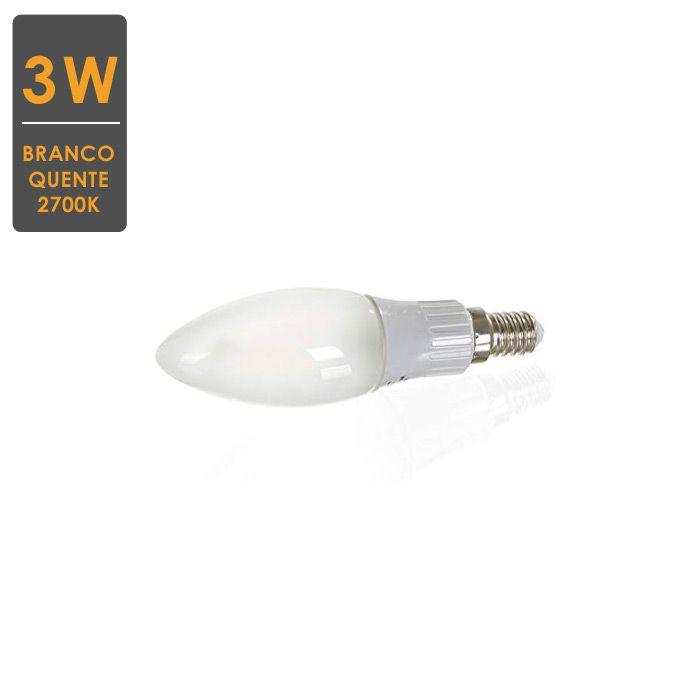 Lâmpada LED Vela Filamento Fosco  E14 3W 2700K Bivolt