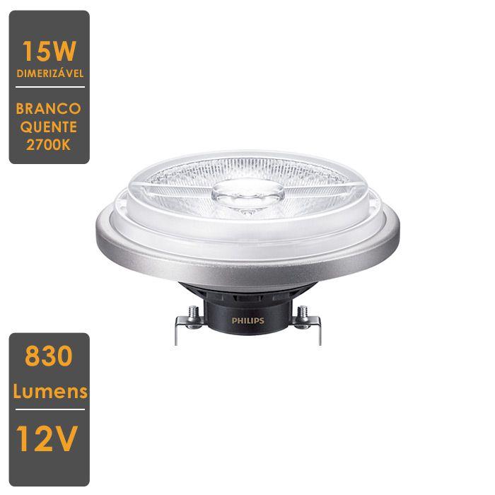 Lâmpada MASTER LED SPOT AR111 15W 2700K G53 12V 40º Dimerizável