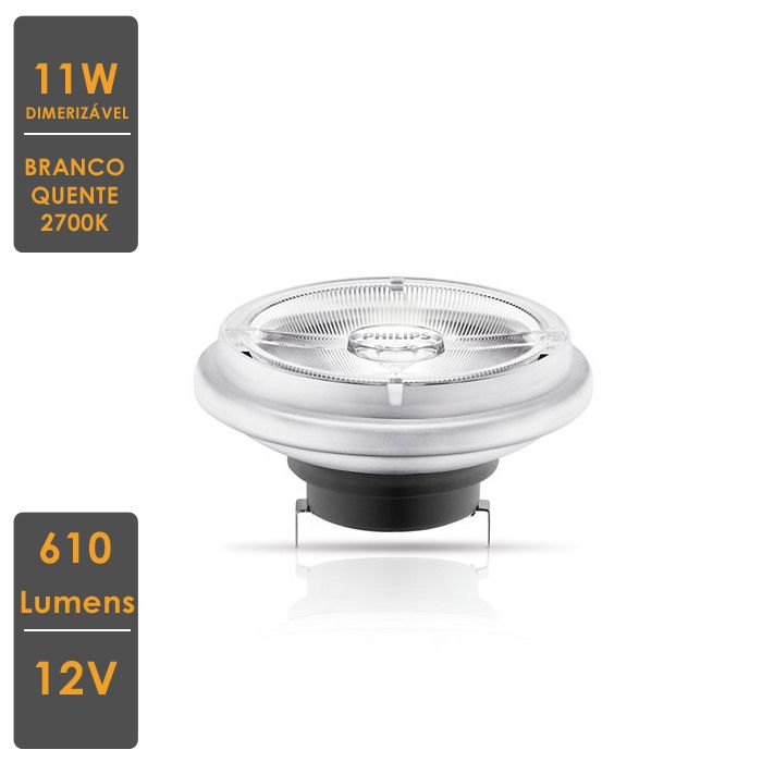 Lâmpada MASTER LED SPOT LV AR111 11W G53 2700K 12V 24°  Dim.