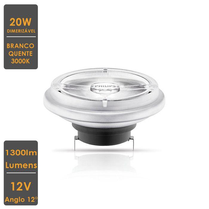 Lâmpada MASTER LED SPOT LV AR111 20W G53 3000K 12V 12° Dim.