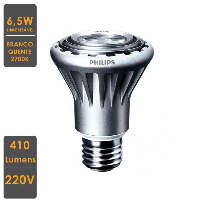 Lâmpada MASTER LED SPOT PAR20 6,5W E27 2700K 220V  Dim.