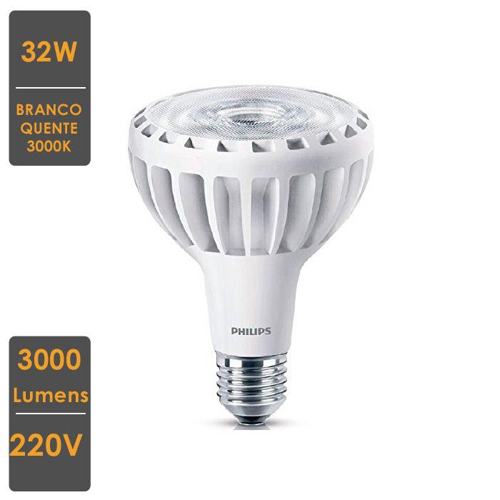 Lâmpada MASTER LED SPOT PAR30L 32W E27 3000K 220V - Qualidade Total