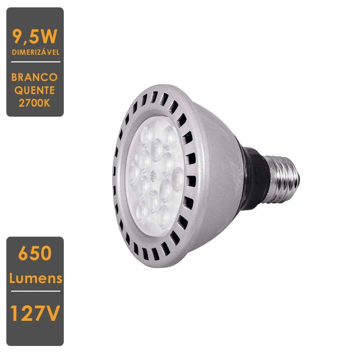 Lâmpada MASTER LED SPOT PAR30S 9,5W E27 2700K 220V  Dimerizável