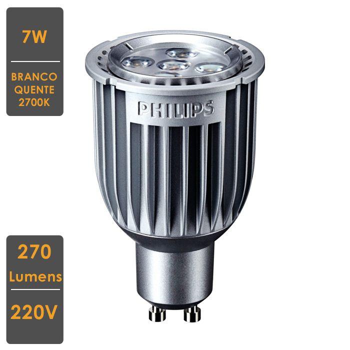 Lâmpada MasterLED Spot MV 7W GU10  2700K 220V DimTone