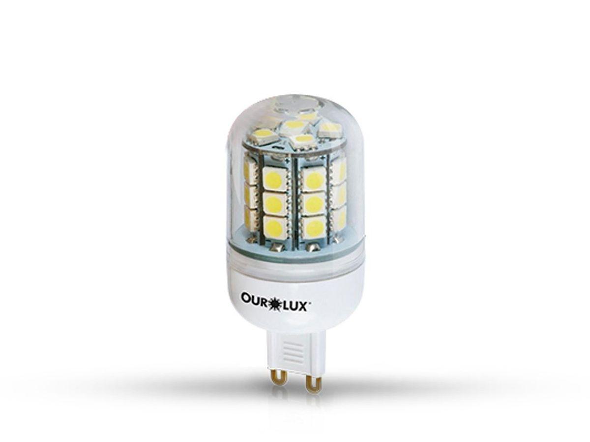 Lâmpada SuperLED Bipino G9 3,5W 2700K Bivolt - Ourolux
