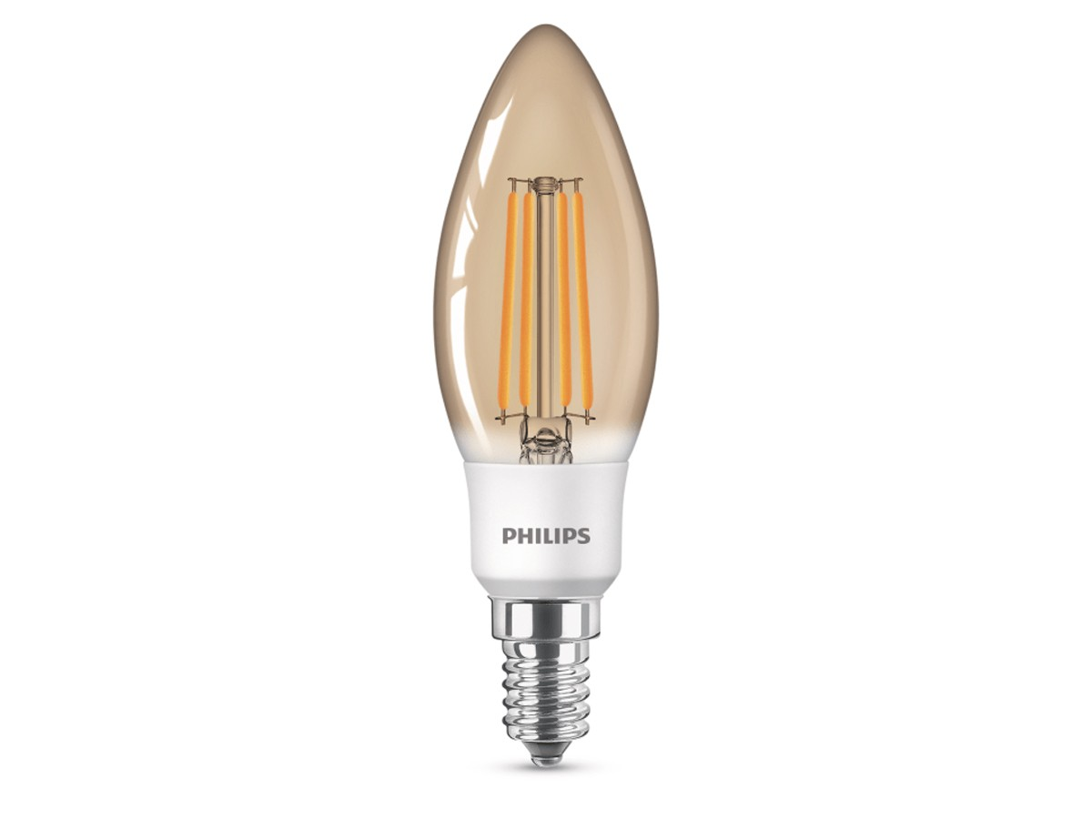 Lâmpada Filamento Led Vela 2,7W 2500K 300lm Bivolt Equivale 30W - Philips