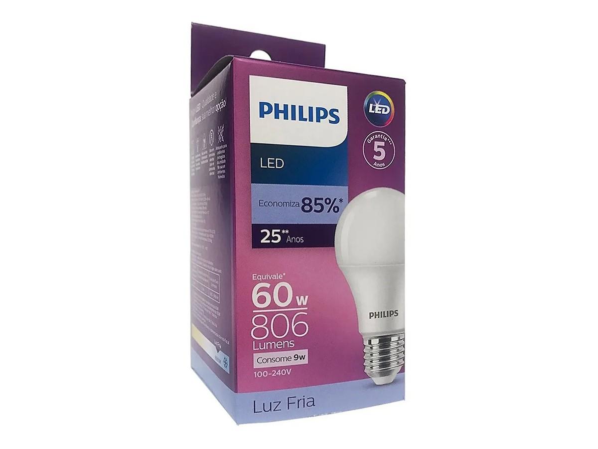 Lâmpada Led Bulbo A55 9W 806lm Bivolt Equivale 60W - Philips