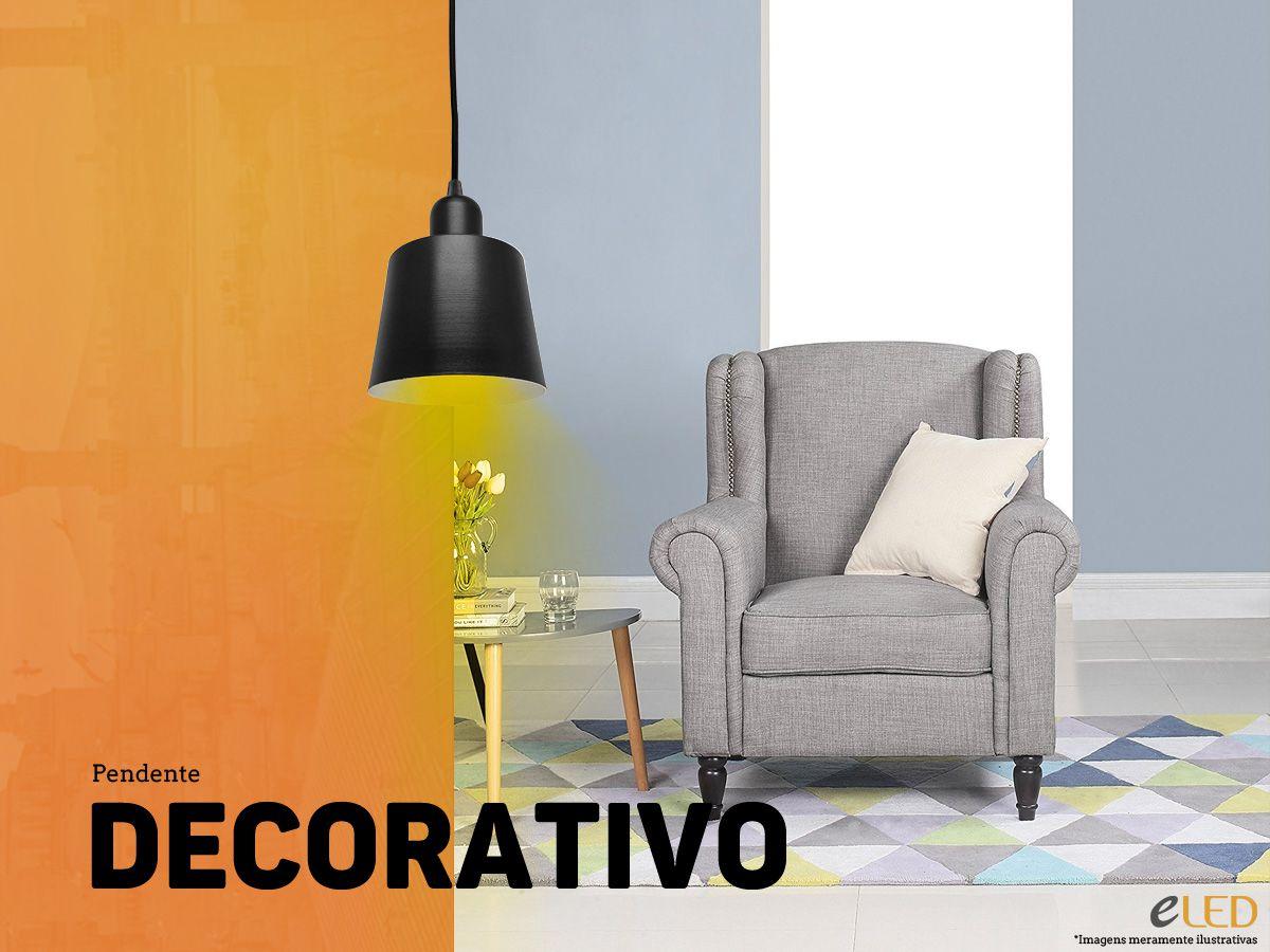 Luminária Pendente Decorativo Alumínio E27 - Pronta Entrega