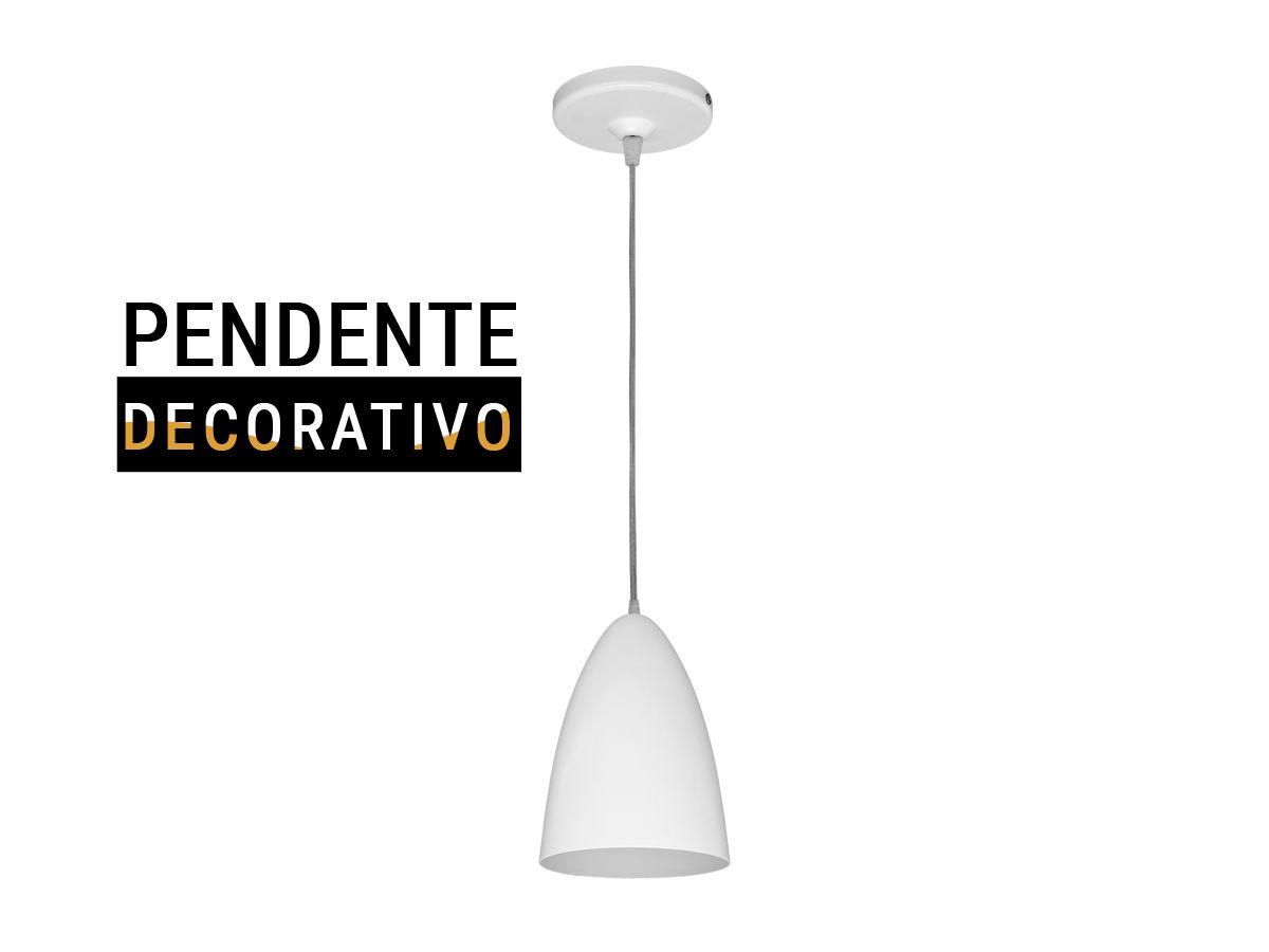 Luminária Pendente Decorativo Branco