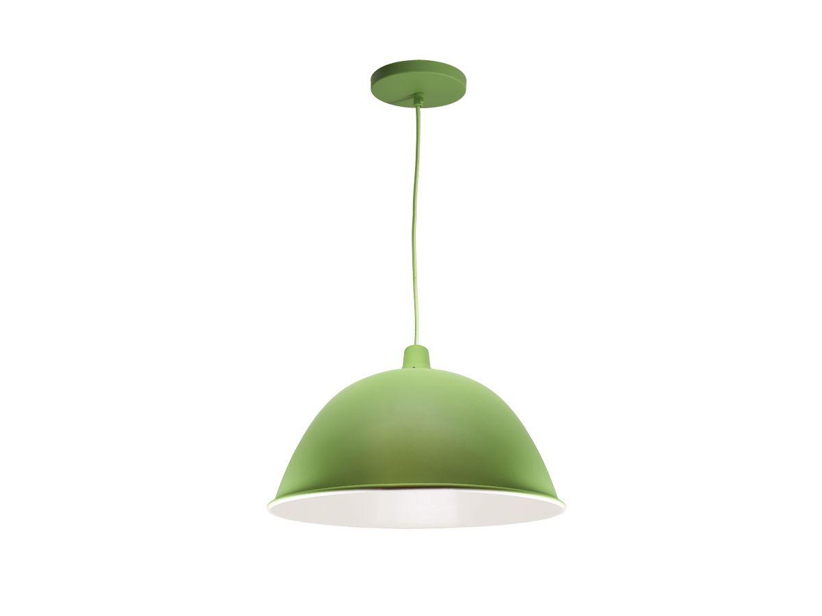 Luminária Pendente Decorativo Verde Palmeira