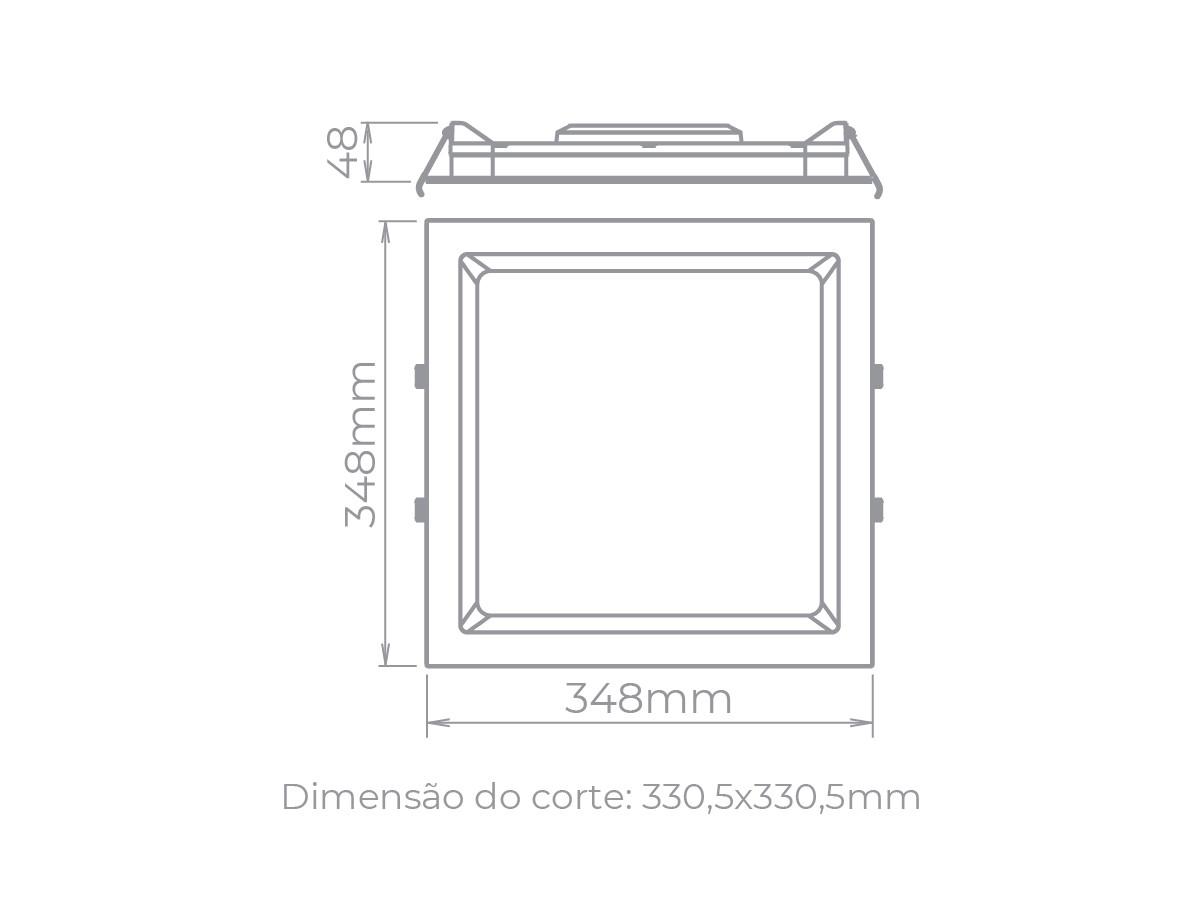 Painel LED de Embutir Deep 30W  Bivolt - Stella STH8905