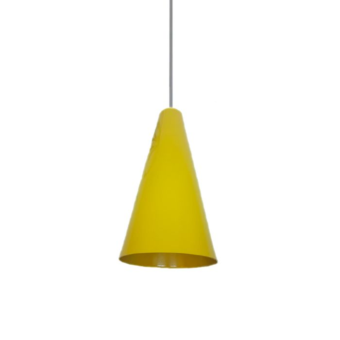 Pendente Decorativo Cone Amarelo 32 x 15cm