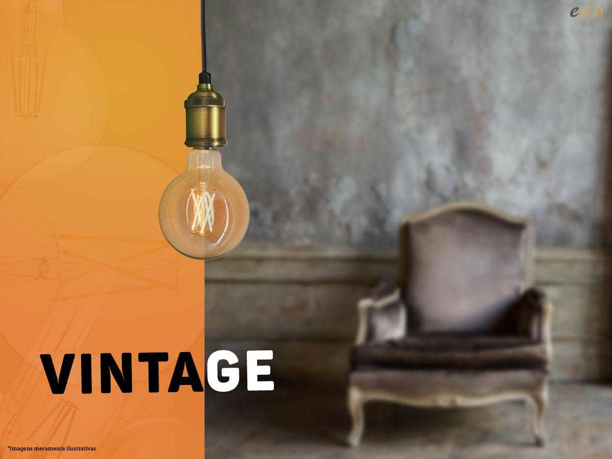 Pendente Soquete Retro Vintage E27  Dourado