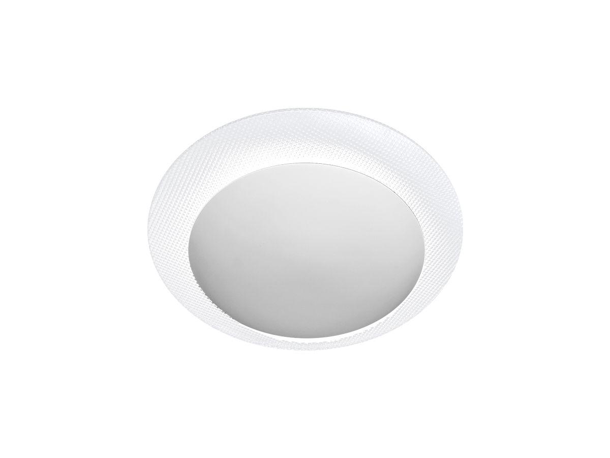 Plafon Contemporâneo Redondo Alumínio Vidro - Branco
