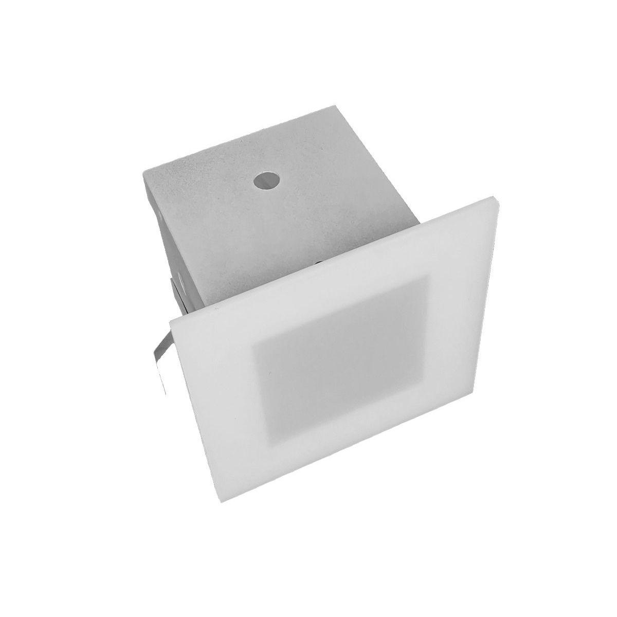 Plafon de Embutir Quadrado 1X25W G9 Branco - Titan