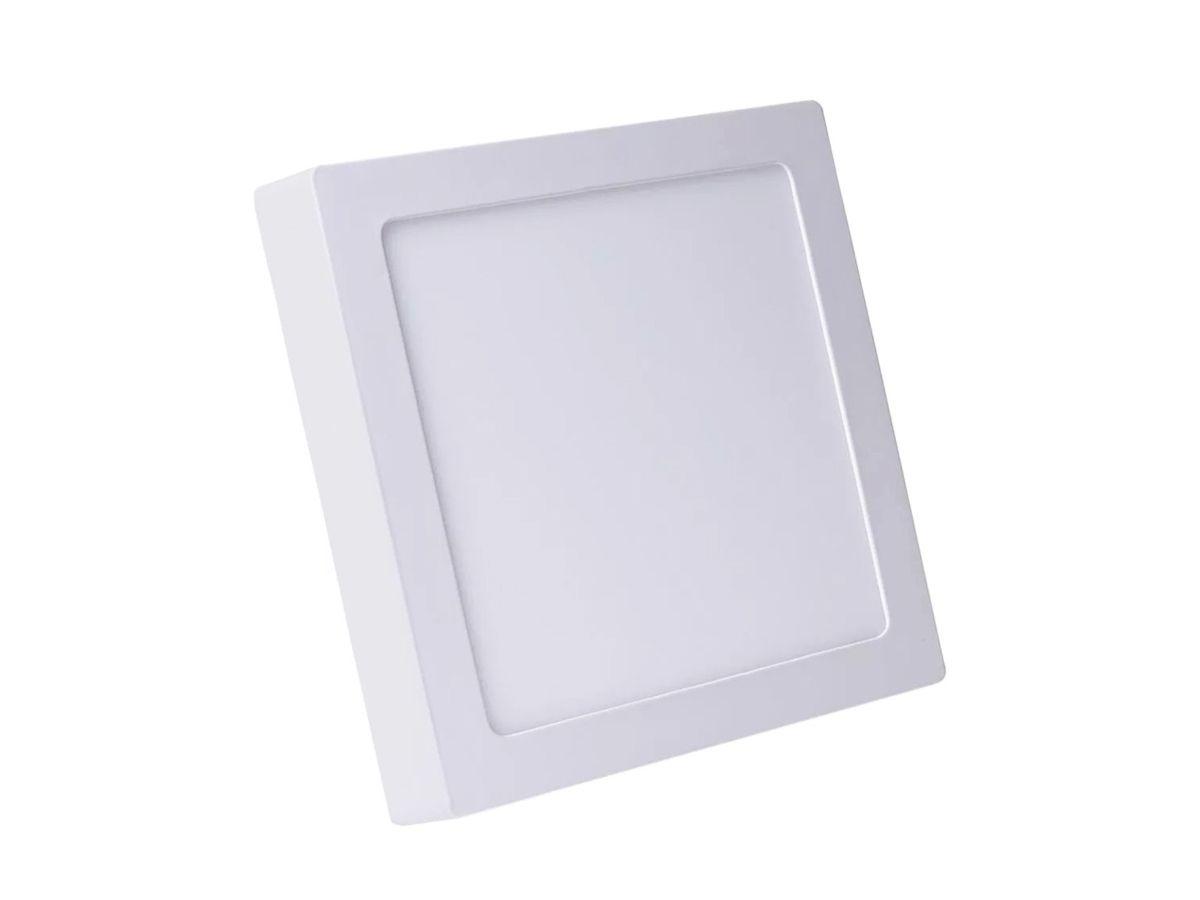 Painel Plafon LED de Sobrepor Slim Quadrado 12W 3000K Bivolt 15X15cm - Initial