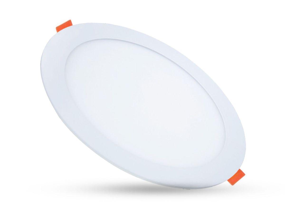 Painel LED Downlights de embutir Redondo 18W 4000K Bivolt Ø22cm - Initial