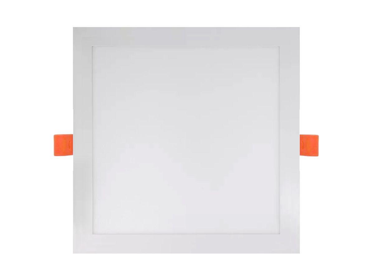 Painel LED Downlights de embutir Quadrado 12W 3000K Bivolt 17X17cm - Initial