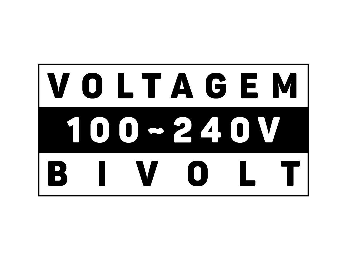 Projetor LED SLIM 10W 3000K BIVOLT 800lm IP65 - Brilia