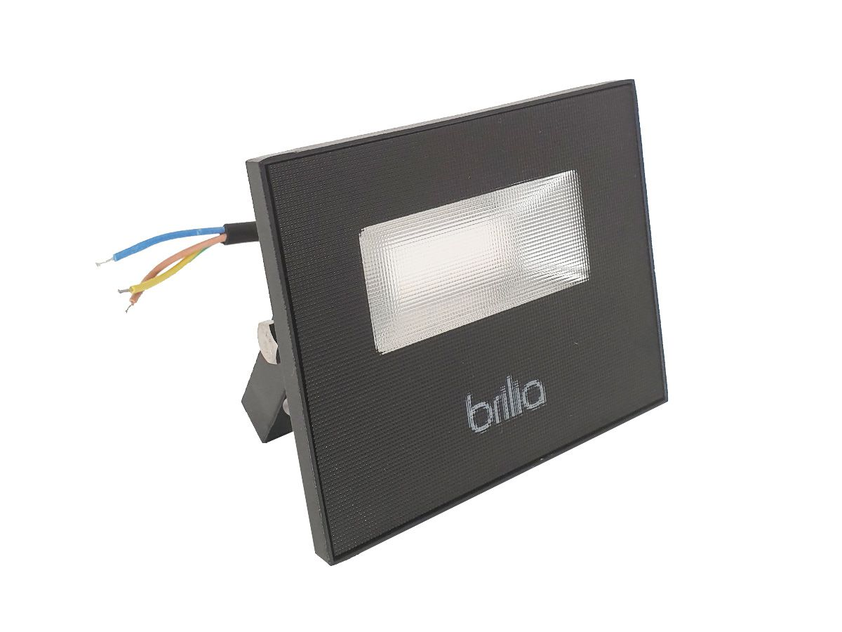 Projetor LED SLIM 10W 3000K BIVOLT 750lm IP65 - Brilia