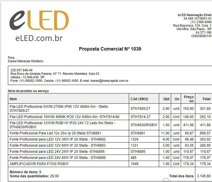 Proposta Comercial Nº 1039 - Daniel Monteiro