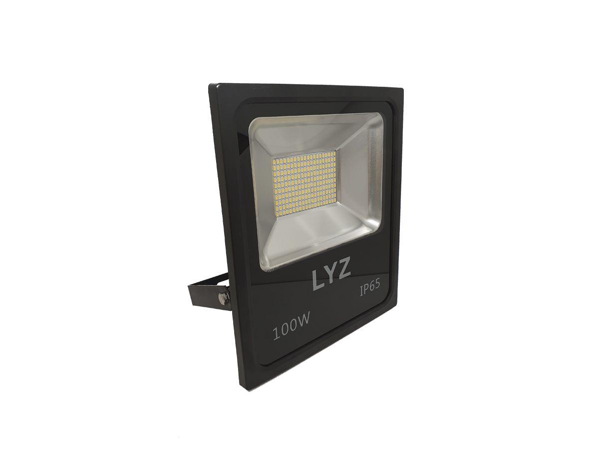 Refletor Slim LED 100W 7200 Lúmens 3000K BIVOLT