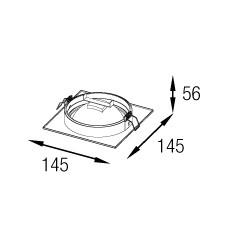 Spot Alumínio AR111 LED GU10 Nuru RE-1065 - REVOLUZ