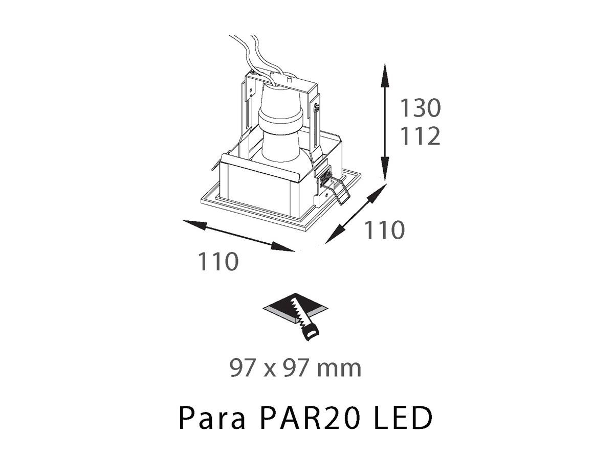 Spot Alumínio PAR20 LED E27 Laini RE-1126 - REVOLUZ