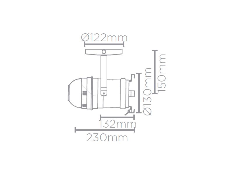 Spot Cênico E27 Par20/Par30 c/Canopla Stella- SD1670PTO