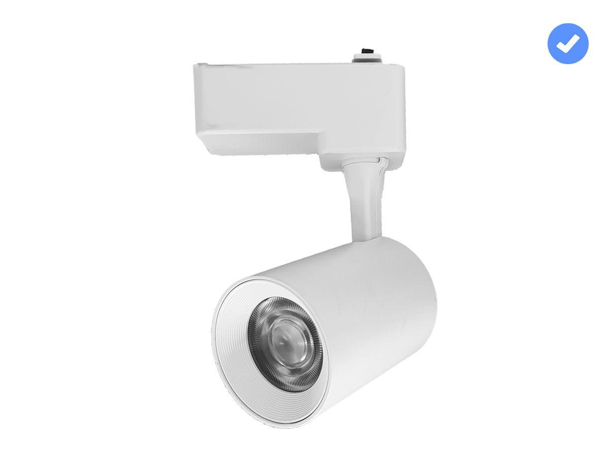 Spot para Trilho 7W 3000K ou 6000K - Branco ou Preto