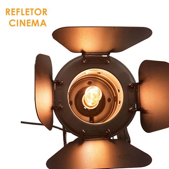 Refletor Spot Cinema Retro Vintage Sanfonada C/ Lâmpada