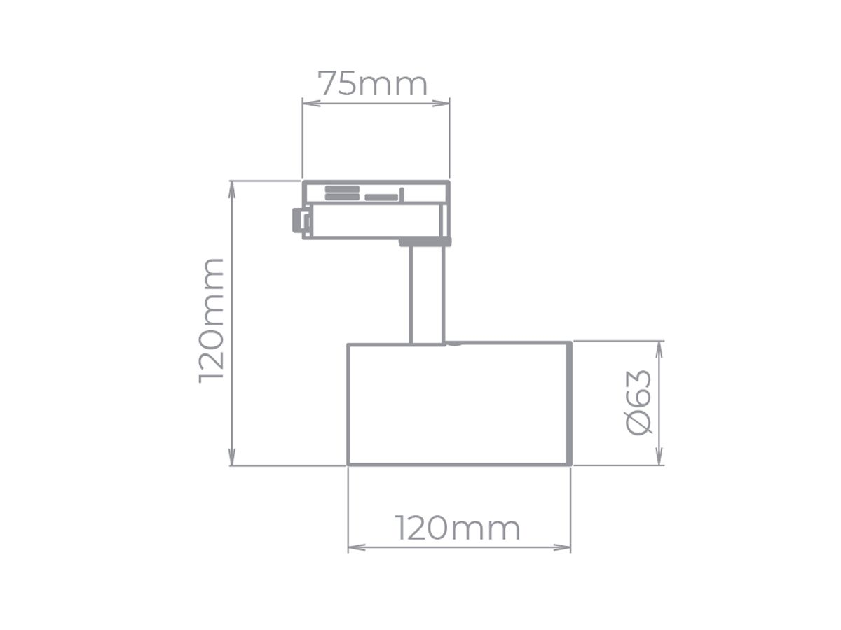 Spot Zylinder para Trilho MR16 GU10 - Stella SD1710