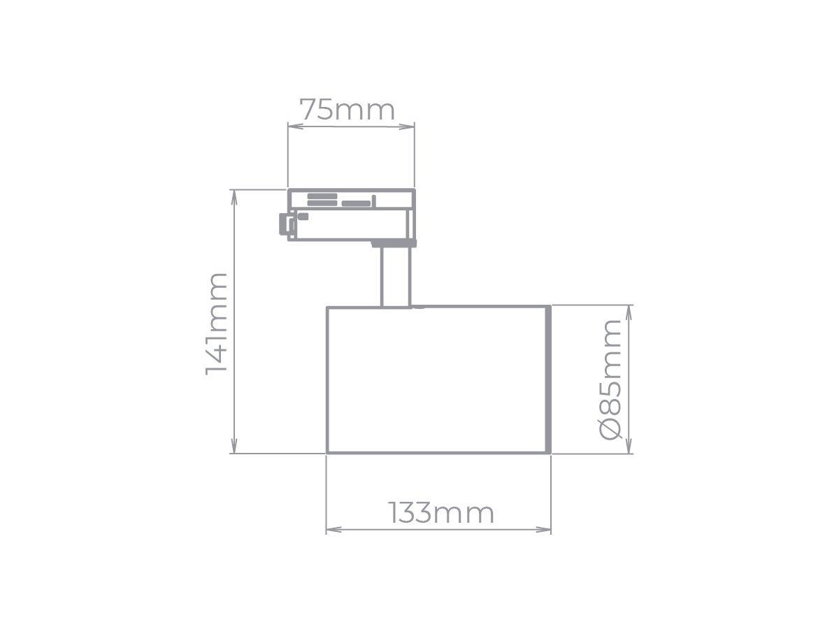 Spot Zylinder para Trilho PAR20 - Stella SD1720