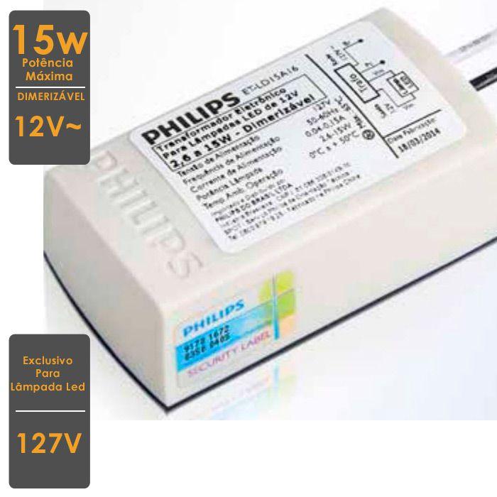 Tranformador Eletrônico 127V para Lâmpada Led Dimerizável
