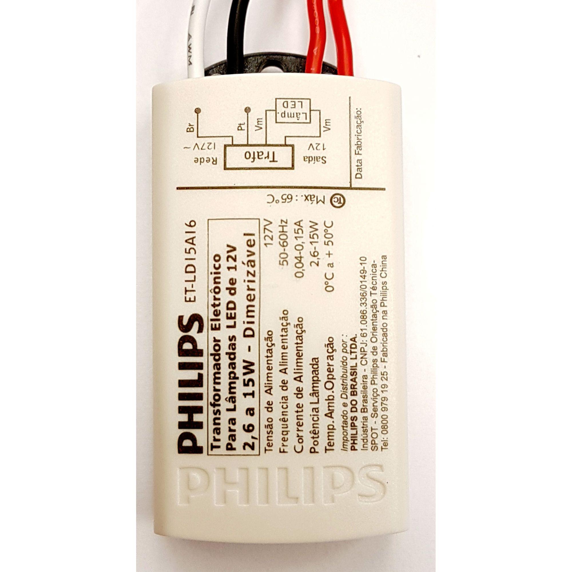 Transformador Eletrônico 127V para Lâmpada Led Dimerizável