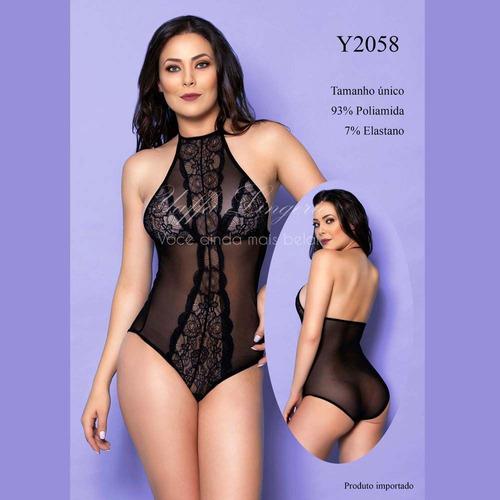 Body Luxo em Renda com detalhes Vazados - Yaffa